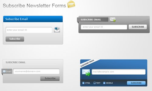 Form Elements PSD Interface Design Mockups