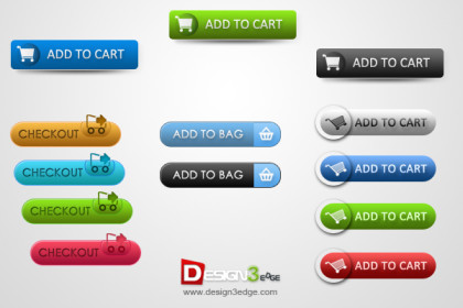 Clean E-Commerce Web Buttons