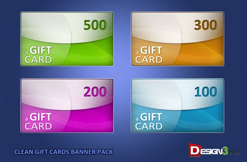 Clean Gift Cards Banner Pack