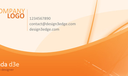 Orange Business Card Design