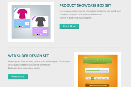 Flat Email Template Design (PSD)