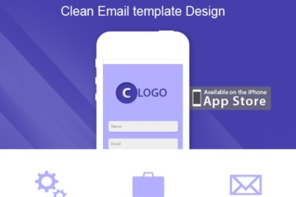 Clean Email Template Design