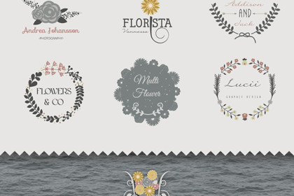 Floral Logo Templates Set