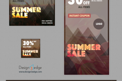 Soothing Summer Sale Web Banners