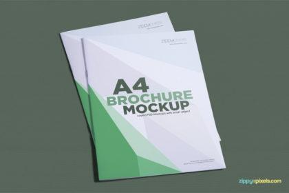 Gorgeous A4 Brochure Mockup