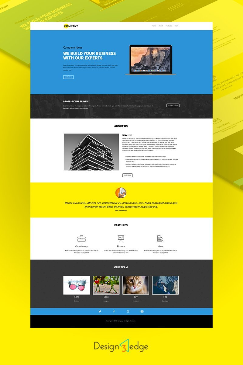 Agency Single Page Template