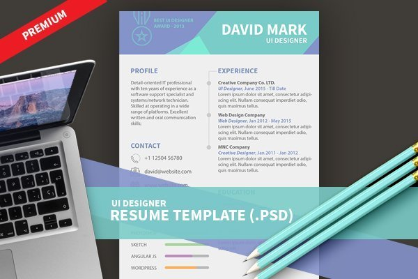 ui designer resume template psd design3edgecom