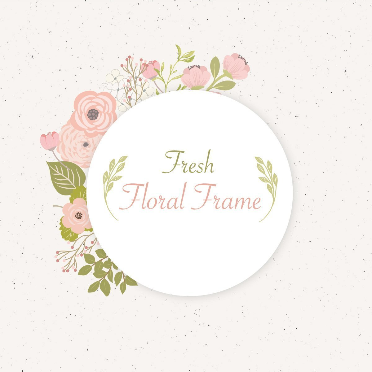 Fresh Floral Frame Design