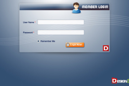 Fresh Login Form Design