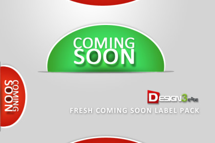 Fresh Coming Soon Label Pack