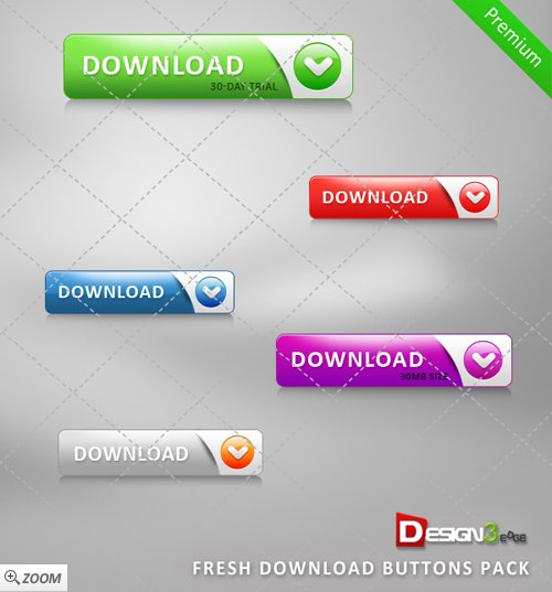 Fresh Download Buttons Pack