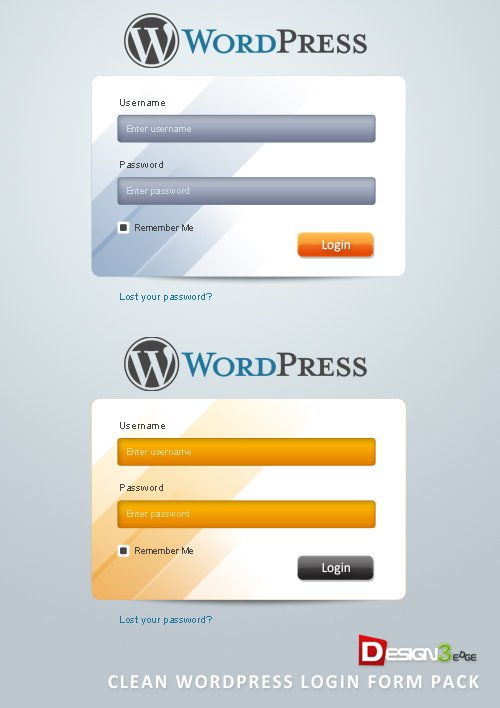 Clean WordPress Login Form Pack
