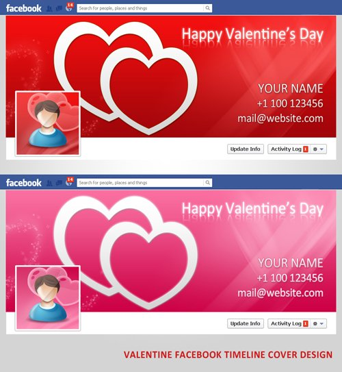 Valentine Facebook Timeline Cover Design