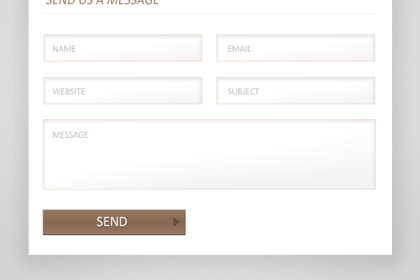 Modal Contact Form Design (PSD)