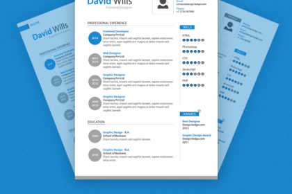 Professional Resume Template Design (PSD)