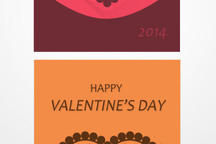 Creative Valentine Card Design (PSD)