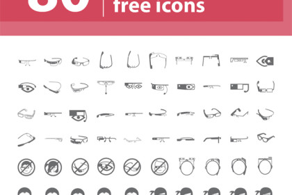 80 Free Google Glasses Icon Set from Freepik