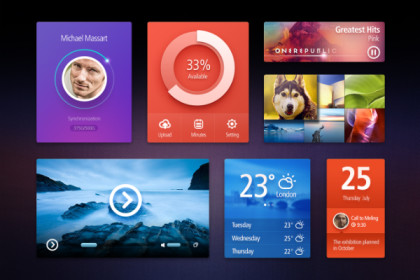 30+ Free Photoshop PSD UI Kits