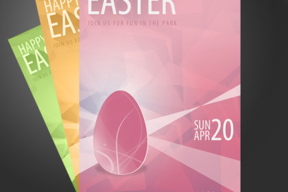 Easter Flyer Template Design (PSD)