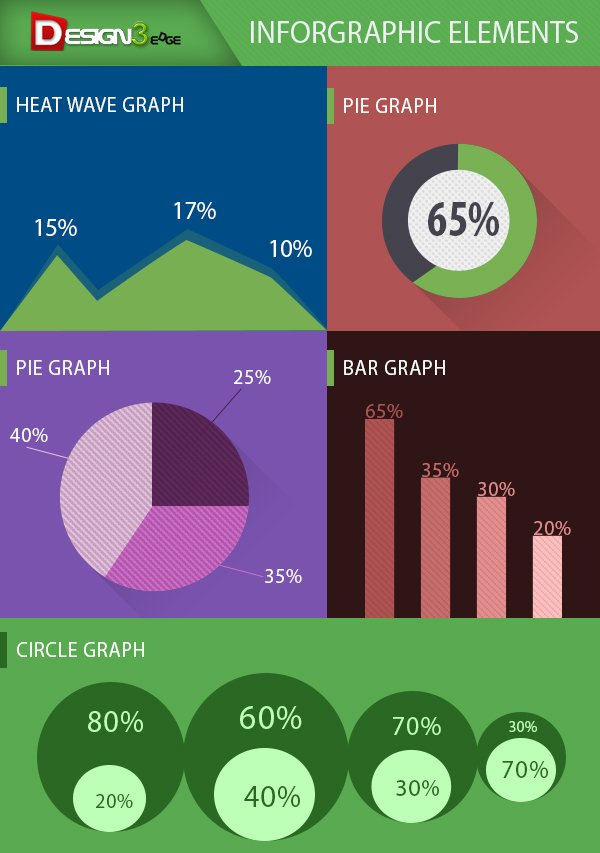 Flat Infographic Elements Design