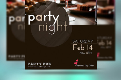 Premium Party Flyer Design