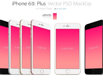 iPhone 6s Plus Vector PSD Mockup