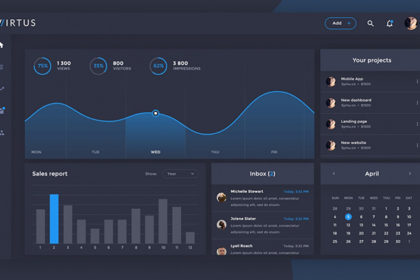 Virtus Dashboard PSD Template
