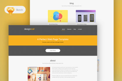 Designstall Single Page Template (Sketch)
