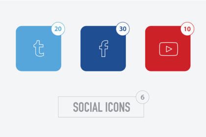 Social Icons with Counters